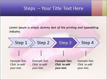 Glossy Lips PowerPoint Template - Slide 4