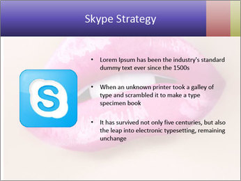 Glossy Lips PowerPoint Template - Slide 8