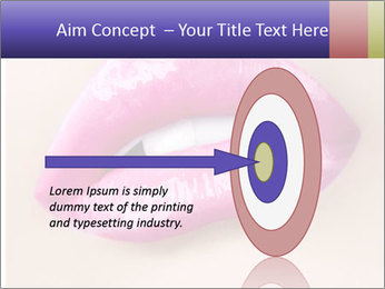 Glossy Lips PowerPoint Template - Slide 83