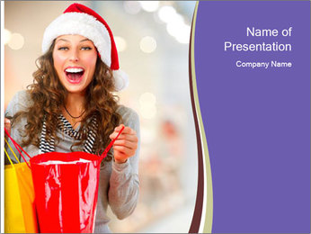Christmas Shoppingl PowerPoint Templates - Slide 1