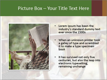 Woman lying in a hammock PowerPoint Template - Slide 13