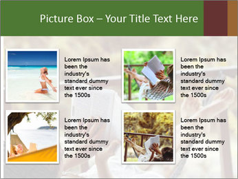 Woman lying in a hammock PowerPoint Template - Slide 14