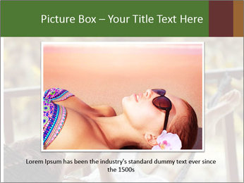 Woman lying in a hammock PowerPoint Template - Slide 15