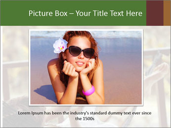 Woman lying in a hammock PowerPoint Template - Slide 16