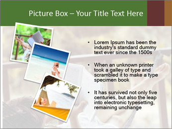 Woman lying in a hammock PowerPoint Template - Slide 17