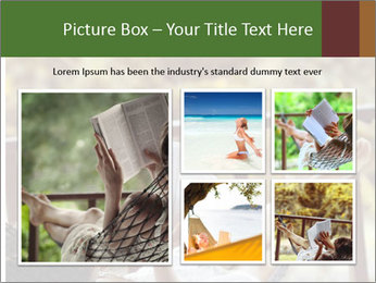 Woman lying in a hammock PowerPoint Template - Slide 19