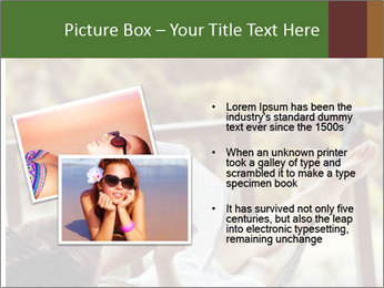 Woman lying in a hammock PowerPoint Template - Slide 20
