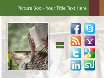 Woman lying in a hammock PowerPoint Template - Slide 21