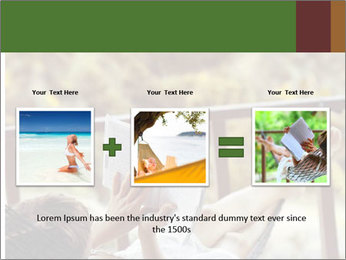 Woman lying in a hammock PowerPoint Template - Slide 22