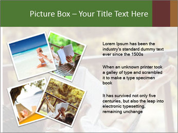 Woman lying in a hammock PowerPoint Template - Slide 23