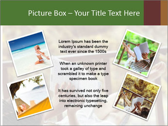 Woman lying in a hammock PowerPoint Template - Slide 24