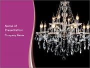Contemporary glass chandelier PowerPoint Template
