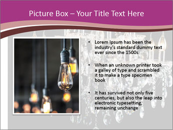 Contemporary glass chandelier PowerPoint Template - Slide 13