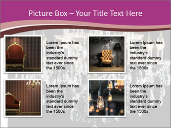 Contemporary glass chandelier PowerPoint Template - Slide 14