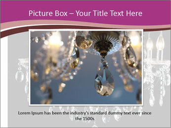 Contemporary glass chandelier PowerPoint Template - Slide 16