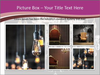 Contemporary glass chandelier PowerPoint Template - Slide 19