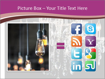 Contemporary glass chandelier PowerPoint Template - Slide 21