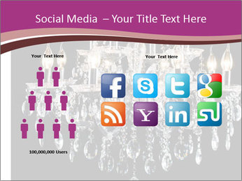 Contemporary glass chandelier PowerPoint Templates - Slide 5