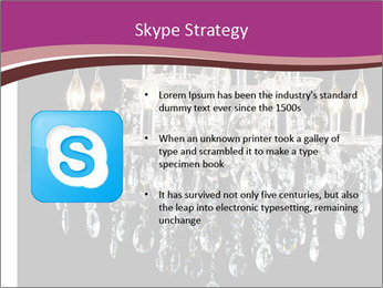 Contemporary glass chandelier PowerPoint Templates - Slide 8
