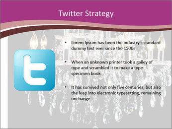 Contemporary glass chandelier PowerPoint Template - Slide 9
