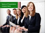 Successful businesswoman PowerPoint Template