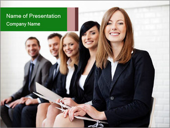 Successful businesswoman PowerPoint Templates - Slide 1