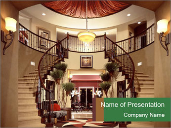 Beautiful Entry Staircase PowerPoint Template