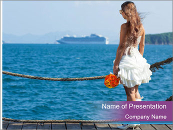 Beautiful bride PowerPoint Template - Slide 1