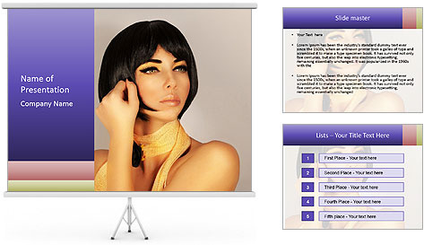 Picture of gorgeous female PowerPoint Template