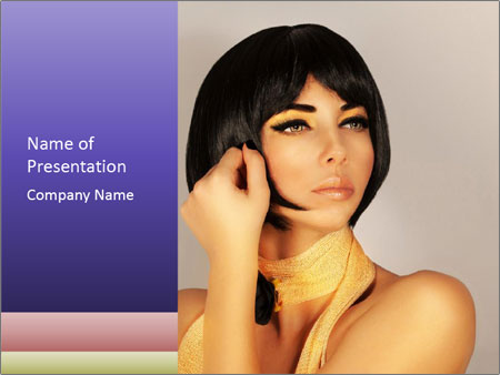 Picture of gorgeous female PowerPoint Templates