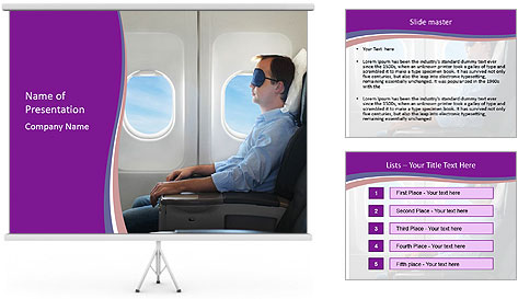 Portrait of man relaxing PowerPoint Template