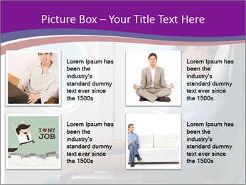 Portrait of man relaxing PowerPoint Template - Slide 14