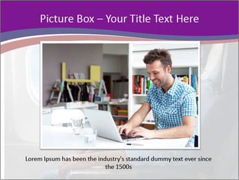 Portrait of man relaxing PowerPoint Template - Slide 15