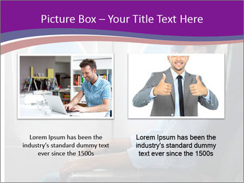 Portrait of man relaxing PowerPoint Template - Slide 18