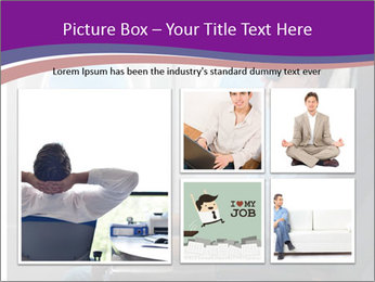 Portrait of man relaxing PowerPoint Template - Slide 19