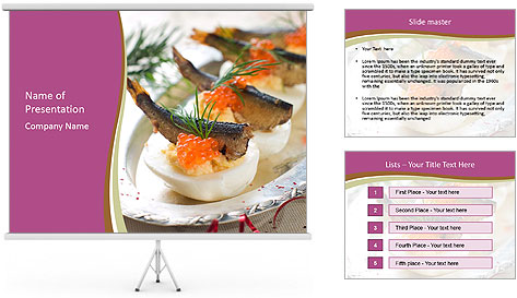 Eggs stuffed with yolk PowerPoint Template
