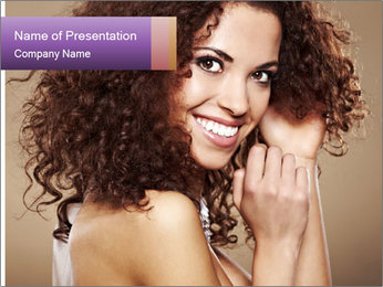 Beauty portrait girl PowerPoint Template - Slide 1