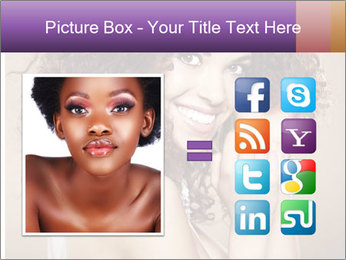 Beauty portrait girl PowerPoint Template - Slide 21