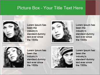 Mysterious portrait of a beautiful brunette PowerPoint Template - Slide 14
