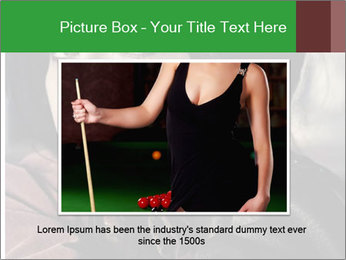 Mysterious portrait of a beautiful brunette PowerPoint Template - Slide 16
