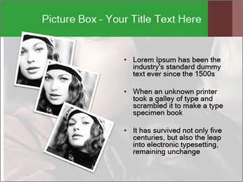 Mysterious portrait of a beautiful brunette PowerPoint Template - Slide 17
