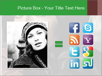 Mysterious portrait of a beautiful brunette PowerPoint Template - Slide 21