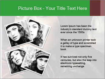 Mysterious portrait of a beautiful brunette PowerPoint Template - Slide 23