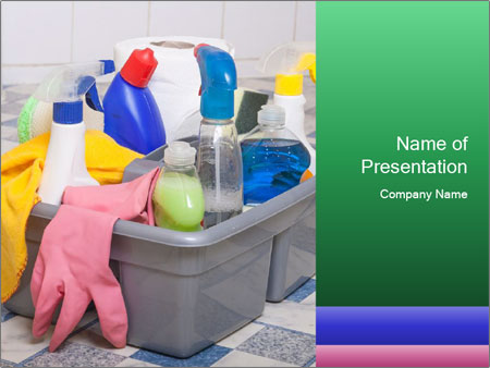 Washroom clean rooms PowerPoint Template
