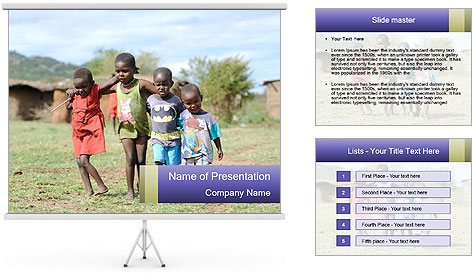 African children PowerPoint Template