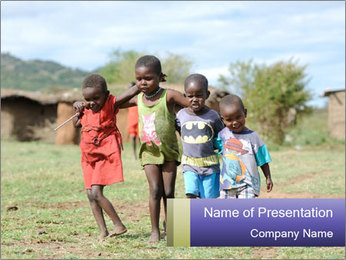 African children PowerPoint Template - Slide 1