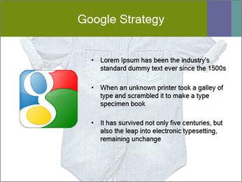 Blue jean shirt PowerPoint Template - Slide 10