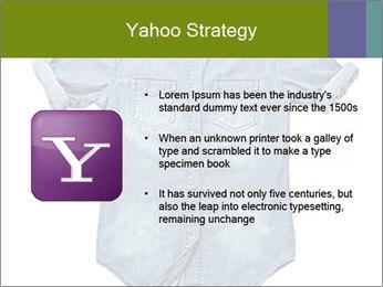 Blue jean shirt PowerPoint Template - Slide 11