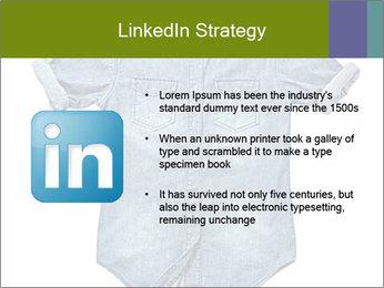 Blue jean shirt PowerPoint Template - Slide 12