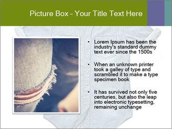 Blue jean shirt PowerPoint Template - Slide 13